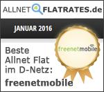 Auszeichnung freenetmobile Janaur 2016