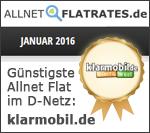 Auszeichnung klarmobil.de Janaur 2016