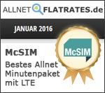 Auszeichnung McSIM Janaur 2016