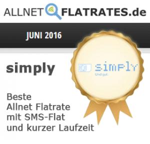 simply Award, Juni 2016